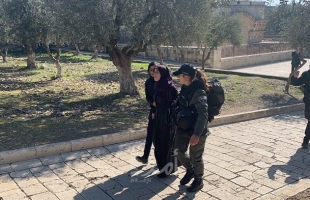 """محدث.. بالصور- شرطة الاحتلال تعتقل (5) نساء من مصلى """"باب الرحمة"""" في المسجد الأقصى"""
