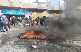 """خانيونس: أهالي عبسان يتظاهرون رفضًا لتخصيص المستشفى الجزائري لفحص """"كورونا"""""""