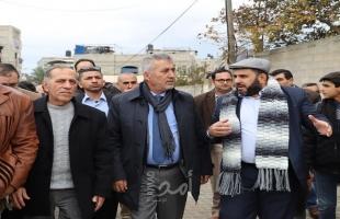 """وزير الحكم المحلي """" الصالح"""" يزور أهم مشروعات بلدية جباليا النزلة خلال عام 2019"""