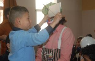 """بالصور.. """"بادر"""" تنظم حفلاً ترفيهياً للأطفال الصم بغزة"""