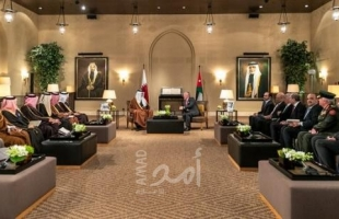 ملك الأردن وأمير قطر يؤكدان أهمية دعم الفلسطينيين لنيل حقوقهم العادلة