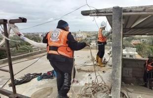 غزة: الدفاع المدني ينفذ 22 مهمة منذ بداية المنخفض الجوي