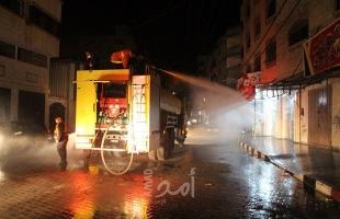 رام الله: الدفاع المدني يتعامل مع 165حادثا منذ بداية المنخفض