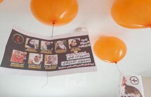 النضال الشعبي بغزة تطلق مجموعة من البالونات تحمل صور الأسرى فى السجون الإسرائيلية