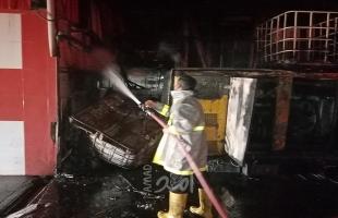 إخماد حريق بمنزل في بيت لاهيا شمال القطاع