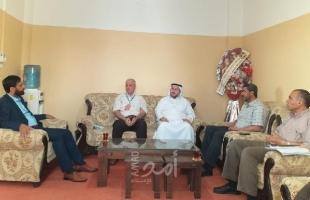 نواب سابقين من ح ما س شمال غزة يلتقون بمدير مديرية التربية والتعليم
