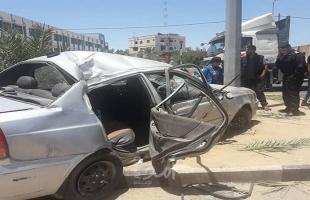 """محدث2- وفاة الطفل """" عبيدة البرس"""" وإصابة أخرين جراء حادث مروري وسط قطاع غزة"""