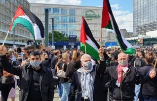 فلسطين حاضرة في قلب برلين .. مظاهرة ضد العنصرية الأمريكية الاسرائيلية - صور|