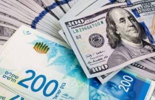 """أسعار صرف العملات في فلسطين الخميس """"الدولار مقابل الشيكل"""""""
