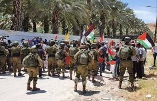 """وقفة احتجاجية في تجمع """"عرب المليحات"""" بأريحا رفضاً لقرارات الضم"""