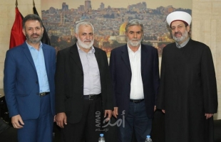 """النخالة يستقبل أمين عام حركة التوحيد الإسلامي معزياً بوفاة القائد """"شلح"""""""