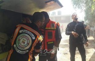 الدفاع المدني يسيطر على حريق اندلع بأرض زراعية شرق البريج- صور