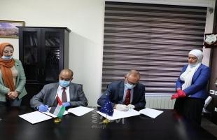 وزارة العدل برام الله تتسلم أجهزة ومعدات الكترونية من بعثة الشرطة الأوروبية