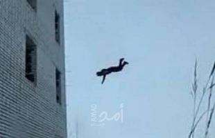 فتاة تحاول إلقاء نفسها من أحد الأبراج في مدينة غزة