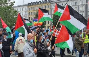 """مسيرة ومظاهرة جماهيرية حاشدة رفضا لمشروع """"الضم"""" في الدنمارك"""