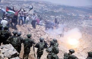إصابات بالاختناق خلال مواجهات مع قوات الاحتلال في كفر عقب شمال القدس
