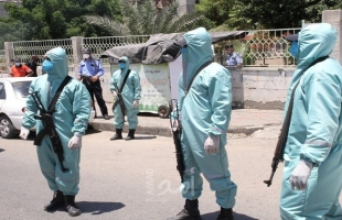 """داخلية حماس: انتهاء مناورة تُحاكي اكتشاف إصابة """"كورونا"""" في حي النصر بغزة"""