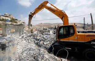 جيش الاحتلال يهدم منزل في القدس وثمانية بركسات لمواطنين برام الله