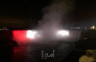 إضاءة شلالات نياجرا الكندية بألوان العلم المصري بمناسبة الاحتفال بثورة 23 يوليو