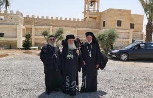 البطريرك ثيوفيلوس الثالث يترأس قدّاساً على الأراضي التي استعادها من إسرائيل بالأغوار