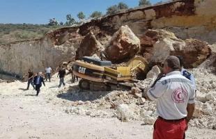 """وفاة فلسطيني خلال عمله في منطقة """"الكسارات"""" بالقدس- صور"""