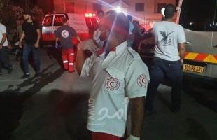 39 إصابة نتيجة نشوب حريق داخل مبنيين بالقدس نتيجة شجار عائلي- صور