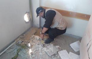 غزة: تعطيل الدراسة في مدرسة الشاطئ بعد العثور على صاروخ لم ينفجر-صور