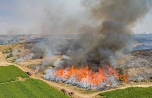 محدث.. اندلاع حرائق في أحراش بلدات إسرائيلية بفعل بالونات غزة الحارقة