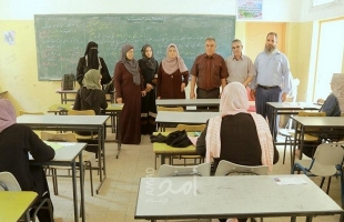 الفرا يتفقد لجان امتحان دورة أغسطس 2020 للثانوية العامة