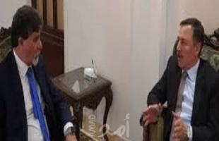 السفير عبد الهادي يطلع مبعوث الرئيس بوتين وممثلة المبعوث الأممي إلى سوريا على مستجدات الأوضاع السياسية