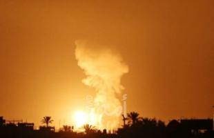 """جيش الاحتلال بعد قصف قطاع غزة: استهدف مواقع عسكرية وانتاج """"صواريخ"""""""