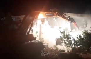 رام الله: جيش الاحتلال يهدم منزلا في بيت سيرا - صور