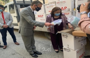 الصحة الفلسطينية تتسلم أجهزة ضغط تنفس اصطناعي من مؤسسات بريطانية