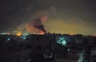 محدث - طائرات الاحتلال الحربية تستهدف عدة مواقع في قطاع غزة