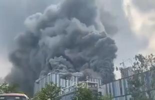 """احتراق مبنى تابع لشركة """"هواوي"""" الصينية- فيديو"""