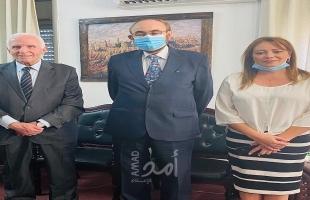 الأحمد يطلع القنصلان البلجيكي والإسباني على تطورات القضية الفلسطينية