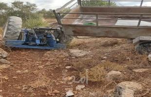 سلفيت: وفاة مواطنة وإصابة آخر إثر إنقلاب جرار زراعي في قراوة بني حسان