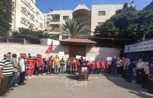 """وقفة طلابية لـ""""الطلبة الثانويين"""" بغزة دعماً للأسير الأخرس"""
