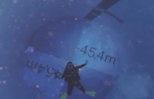 بالفيديو .. افتتاح أعمق حمام سباحة فى العالم