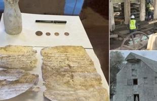 بعد أكثر من قرن .. اكتشاف رسائل مكتوبة وعملات نادرة بـــ نيويورك