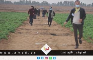 شاهد..لحظة اطلاق جنود الاحتلال الرصاص الحي على طاقم أمد ومجموعة من الصحفيين