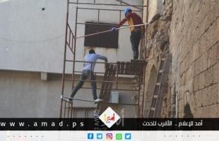 """""""أمد"""" يتابع """"مبادرون"""" لترميم مدرسة الكمالية الأثرية في غزة وحمايتها - فيديو وصور"""""""
