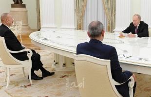 بوتين يجمع زعيمي أرمينيا وأذربيجان لأول مرة منذ الحرب