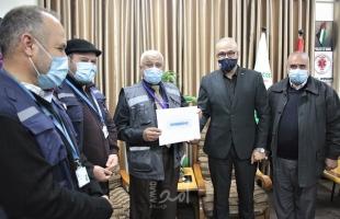 منظمة الصحة العالمية تكرم وحدة الإسعاف والطوارئ بصحة حم!س في غزة