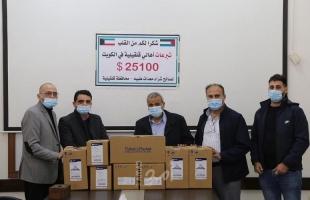 قلقيلية: استلام أجهزة تنفس اصطناعي لصالح القطاع الصحي