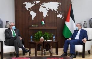 تفاصيل لقاء اشتية مع المنسق الخاص لعملية السلام بالشرق الأوسط تور وينسلاند
