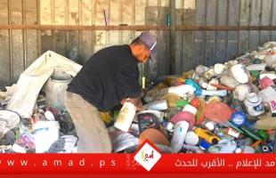 جمع وإعادة تدوير البلاستيك.. مهنة شاقة مقابل أموال زهيدة - فيديو وصور