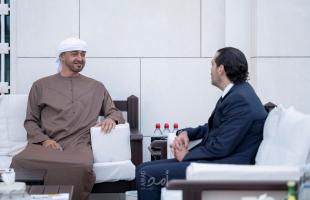 الحريري يجري مباحثات مع الشيخ محمد بن زايد في أبوظبي