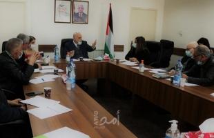أبو جيش يبحث التحضيرات لعقد المؤتمر الوطني الأول للحوار الاجتماعي