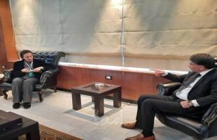 عبد الهادي يبحث مع وزيرة الشؤون الاجتماعية السورية أوضاع المخيمات الفلسطينية